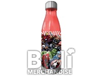 AVENGERS 20 OZ CURVED PLASTIC WATER BOTTLE