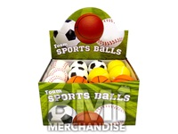 FOAM SPORTS BALL ASSORTMENT -2.5IN - 24 PC