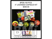 LICENSED BALL PRIZE KIT 4 INCHES - 100 PCS