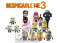 48PC 10IN DESPICABLE ME MINION PLUSH CRANE KIT