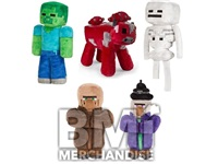 24PC MINECRAFT JUMBO 12IN PLUSH CRANE KIT