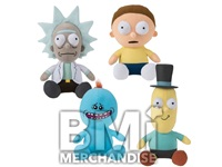 72PC 20% LICENSED JUMBO 10-14IN RICK & MORTY PLUSH CRANE KIT
