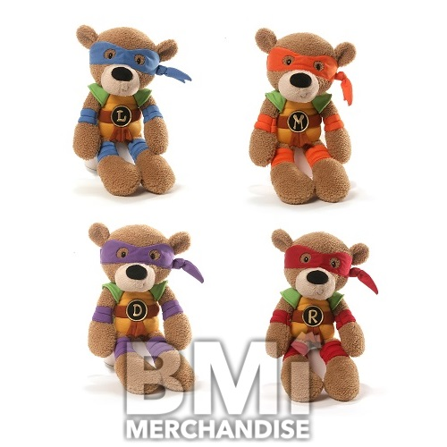 Crane Tmnt Toys : Pc jumbo in gund tmnt fuzzy bear crane kit