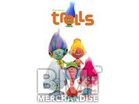 72PC 20% LICENSED JUMBO 11-15IN TROLLS PLUSH CRANE KIT