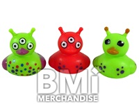 2 INCH ALIEN RUBBER DUCK ASSORTMENT
