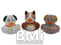 2 INCH PUPPY RUBBER DUCK ASSORTMENT