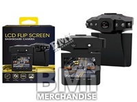 LCD FLIP SCREEN DASHBOARD CAMERA - STRAPPED
