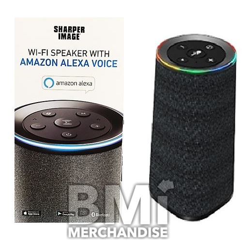 Sharper Image Wifi Speaker With Amazon Alexa