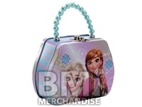 FROZEN PURSE SHAPED TIN WITH BEADED HANDLES