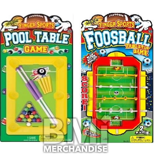 FINGER SPORTS FOOSBALL/BILLIARDS TABLE TOP GAME