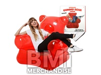 43INCH INFLATABLE GUMMY BEAR SHAPED CHAIR