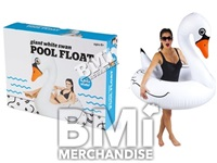 GIANT INFLATABLE WHITE SWAN POOL FLOAT