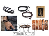 MENS LEATHER BRACELET ASSORTMENT
