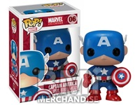 CAPTAIN AMERICA POP VINYL FIGURE-STRAPPED