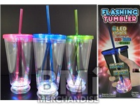 LIGHT UP CUP WITH STRAW