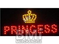 DELUXE PRINCESS WITH CROWN LED SIGN