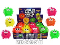 4IN LIGHT UP POP EYE CRITTER BALLS