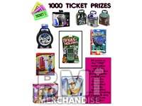 1000 TICKET TO PRIZE KIT - BOY & GIRL PRIZES - 6 PC