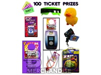 100 TICKET TO PRIZE KIT - BOY & GIRL PRIZES - 120 PC
