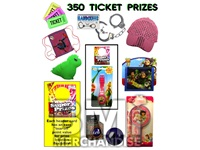 350 TICKET TO PRIZE KIT - BOY & GIRL PRIZES - 50 PC
