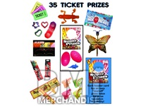 35 TICKET TO  PRIZE KIT - BOY & GIRL PRIZES - 144 PC