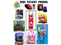 500 TICKET TO PRIZE KIT - BOY & GIRL PRIZES - 40 PC
