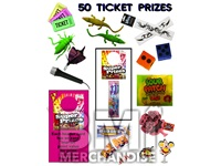 50 TICKET TO PRIZE KIT - BOY & GIRL PRIZES - 120 PC