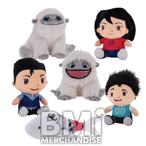 6 - 7INCH ABOMINABLE MOVIE PLUSH ASSORTMENT
