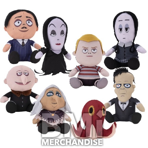 144PC MIX PLUSH 20% 6-7INCH ADDAMS FAMILY PLUSH CRANE KIT