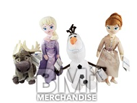 72PC 20% LICENSED 8IN FROZEN II PLUSH ASST CRANE KIT