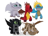 144PC MIX PLUSH 20% 5 - 8 INCH TRAIN YOUR DRAGON CRANE KIT