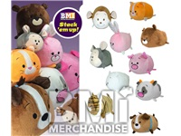 48PC 11IN BUN BUN ASSORTED PLUSH CRANE KIT
