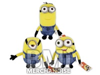 12PC 100% LICENSED 7 INCH DESPICABLE ME MINIONS PLUSH ASST.