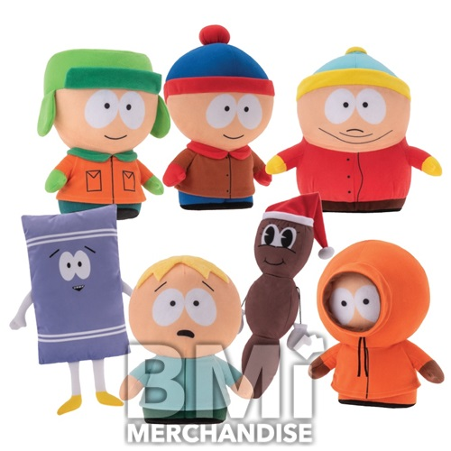 72PC 100% LICENSED 5-10 INCH SOUTH PARK PLUSH ASST CRANE KIT