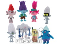 144 PC 8-10IN MIX 20% LICENSED TROLLS PLUSH CRANE KIT