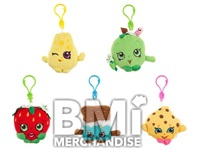 SHOPKINS 4IN PLUSH KEYCHAINS