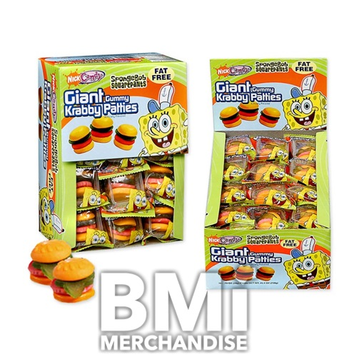 SPONGEBOB GIANT KRABBY PATTIES GUMMY CANDY
