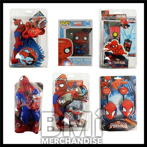 12PC SPIDERMAN STRAPPED PRIZE PACK