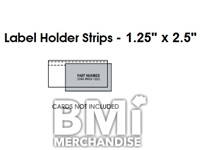 ADHESIVE POINT CARD HOLDERS FOR WOODEN SHELVES PK 54