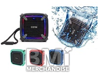 IHOME PORTABLE WATERPROOF BLUETOOTH SPEAKER W/ SPEAKERPHONE - STRAPPED